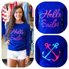 Hello Sailor top from Ivy boutique! 228-354-8499! @ivyboutiquems on Instagram or Facebook.com