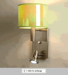 Nacar Kiwi Chelsea 1 Wall Sconce  Item# NacarKiwiChelsea1  Regular price: $300.00  Sale price: $255.00