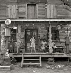 Country storefront in 1939.