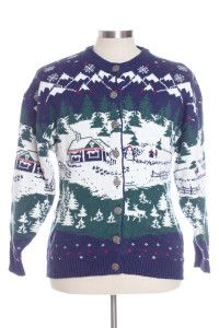 Multicolor Ugly Christmas Cardigan 30956
