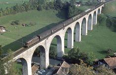 Swiss Railways, Bahn, Locomotive, Bridges, Travel Inspiration, World, Swiss Guard, Nostalgia, Make Your Own