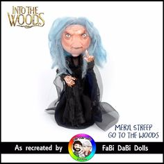 Sondheim Into the woods Meryl Streep Go To The Woods witch FaBi Dabi Peg Doll Meryl Streep, Mermaids, Fairies, Woods, Witch, Store, Anime, Clothes, Ebay