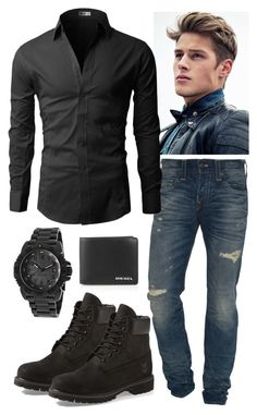 """""""Untitled #386"""" by ambershad ❤ liked on Polyvore featuring True Religion, Luminox, Diesel, Timberland, mens, men, men's wear, mens wear, male and mens clothing"""