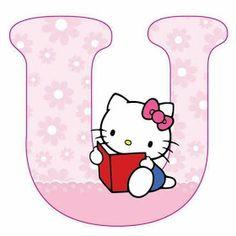 Escuela infantil castillo de Blanca: ALFABETO HELLO KITTY Hello Kitty Theme Party, Hello Kitty Themes, Alphabet Letters Design, Alphabet Templates, Hello Kitty Pictures, Kitty Images, Hello Kitty Backgrounds, Hello Kitty Wallpaper, Hello Kitty Face Paint