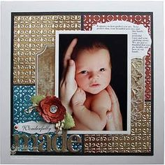 Wonderfully Made by Lesley Langdon (Spellbinders)  perfect for Michael with Dayton pictures