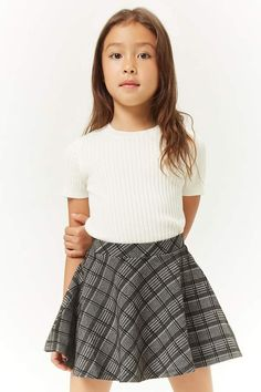 Shop Forever selection of girls bottoms to find the latest styles. Girls Fashion Clothes, Kids Outfits Girls, Cute Girl Outfits, Tween Fashion, Cute Summer Outfits, Fashion Outfits, Kids Girls, Plaid Mini Skirt, Mini Skirts