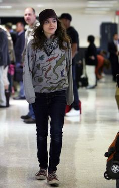 Ellen Page. Managing to rock things i would never wear in my life.