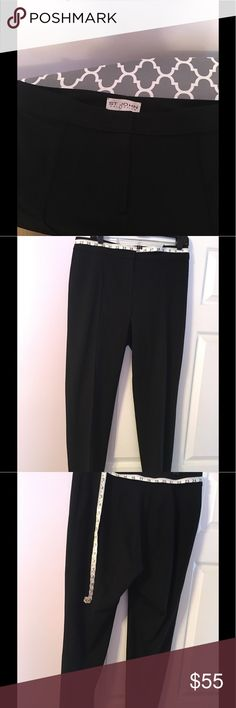 St John Collection Black Pants Preloved  Black St Johns Collection Diana Classic Cady Stretch Pants, with front center seams. Classic straight-leg pants are tailored in Italian stretch cady fabric that's as comfortable as it is polished. Zip fly closure🌸🌸note the size is unknown see pictures for measurement🌸🌸 St. John Collection Pants Ankle & Cropped