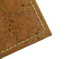 Bifold cork wallet with cork interior compartments by mispWorkshop, $80.00