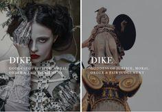 greek mythology → dike goddess of justice, moral order & fair judgement