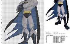 Batman DC Comics grille point de croix gratuite