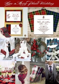 Have yourself a Little Merry Plaid Wedding
