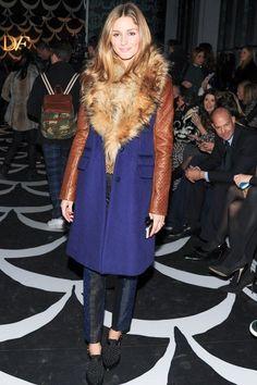 Olivia Palermo.. Diane von Furstenberg coat.. NYFW..... - Celebrity Fashion Trends