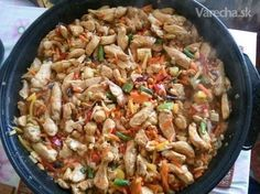 Moja čína - Recept Kung Pao Chicken, Paella, Food And Drink, Pizza, Rice, Chinese, Seitan, Ethnic Recipes, Chinese Language