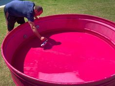 Answering all your stock tank pool questions! Our DIY Stock Tank Pool & Deck: One Year Update! How we maintained our painted stock tank pool. Stock Pools, Stock Tank Pool, Pink Spray Paint, Pool Paint, Backyard Playground, Natural Playground, Playground Ideas, Backyard Retreat, Diy Pool