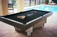 Custom Black Pool Tables