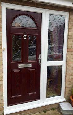 The Aberdeen Composite Door in Rosewood with Black Diamonds and ...