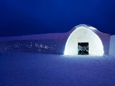 ICEHOTEL, Sweden. If/when I make it to Denmark again for a long period of time, might as well try to go here too :)