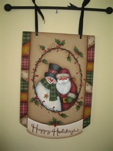 Holiday welcome banner by Mary Jo Tuttle