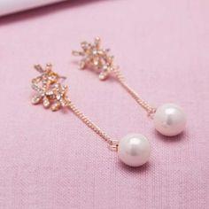 Boucles d'oreille mariage Vintage perle