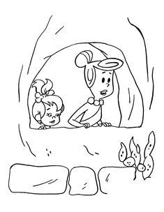 Desenhos para pintar Os Flintstones 26