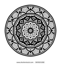 Mandala. Ethnic floral round ornament. Vector art
