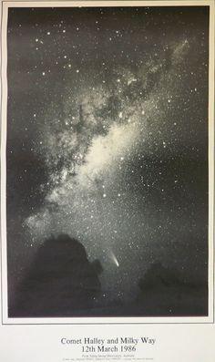 Comet Halley and Milky Way, 1986