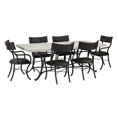 Bunny Williams La Colina 7 Piece Dining Set with Klismos Chairs