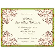 Marsh Border Holiday Christmas Invitations