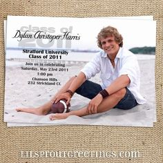 Photo Graduation Announcement Invitation by lilsproutgreetings, $17.00