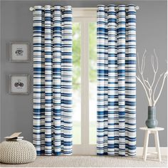 Free Shipping on orders over $35. Buy Home Essence Apartment Riley Cotton Stripe Printed Panel at Walmart.com