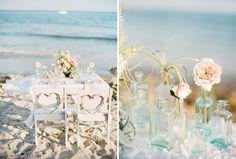Beachy wedding decor!