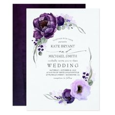 Shop Eggplant Purple Floral Elegant Engagement Party Invitation created by lovelywow. Personalize it with photos & text or purchase as is! Silver Wedding Invitations, Engagement Party Invitations, Graduation Invitations, Wedding Invitation Cards, Bridal Shower Invitations, Birthday Invitations, Floral Invitation, Wedding Stationery, Baptism Invitations