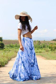 Boho Skirt / Maxi Skirt / Maxi Boho Skirt /Modest Skirt / Beach Skirt /Full Length skirt / Tie Dye Skirt/ Long Skirt Modest Skirts, Boho Skirts, Beach Skirt, Beach Dresses, Aladdin Pants, Drop Crotch Pants, Full Length Skirts, Summer Looks, Boho Dress