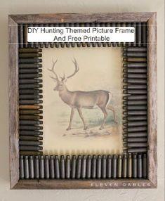 Deer Print | Rustic Bullet Casing Frame