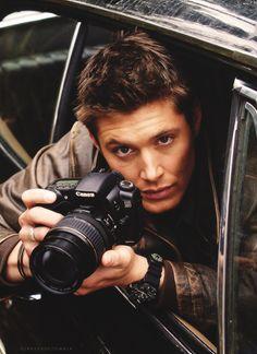 Jensen between the scenes...