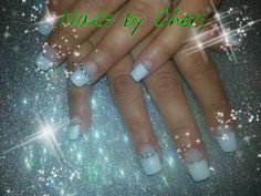 Handpainted on acrylic nails by Cheri