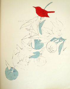 Andy Warhol - A Gold Book (IV.121), 1957 offset lithograph and watercolor on paper 14 1/4 x 11 1/4