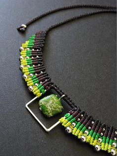 Aimy / Collier macramé / Macrame necklace / micro macrame