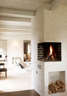 Elevated corner fireplace