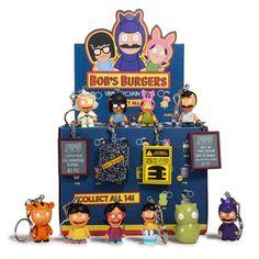 Bob's Burgers Mini-Figure Key Chains Display Tray Kidrobot Bobs Burgers Key Chains