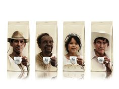 20 packagings molones de café