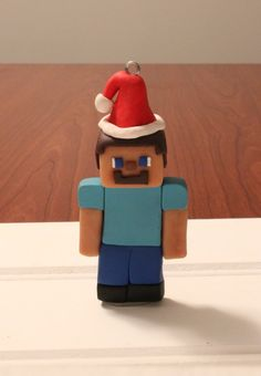 Handcrafted polymer clay Minecraft like Steve by ArtsyVartsy
