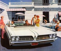 1961 Pontiac Bonneville. Our neighbor had one of these cars back then....it could hold about 10 kids in it, to go to the swimming pool!