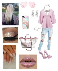 """""""Untitled #62"""" by mcgoverncaitlinl on Polyvore featuring Chanel, Casadei, Casetify, Refuge, Miss Selfridge, Charlotte Russe, Oscar de la Renta, SPECIAL DAY and Oliver Peoples"""