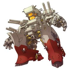 特急みかん (@tokkyuumikan) | Twitter Robot Concept Art, Robot Art, Gurren Laggan, Character Art, Character Design, Mecha Suit, Armadura Medieval, Cool Robots, Chibi