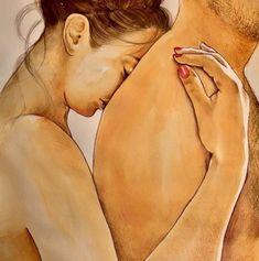 Illustrations of intimacy and love by frida castelli. Couple Illustration, Illustration Art, Website Instagram, Calin Couple, Illustrator, Italian Artist, Couple Art, Insta Photo, Erotic Art