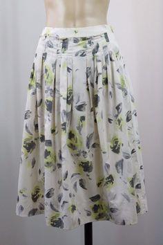 Size XS 8 Veronika Maine Ladies Skirt Casual Boho Chic Office Cocktail Design  #VeronikaMaine #ALine