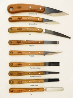 Japanese Carving Knives Hiro - 9 pieces | Japanese Tools Australia