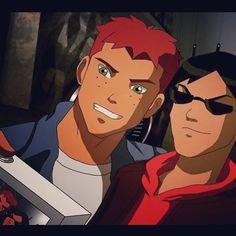 Kid Flash aka Wally West and Robin aka Richard Dick Grayson | Young Justice